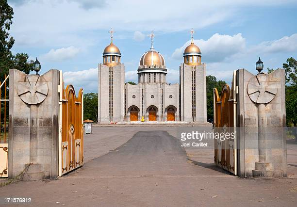 ethiopian orthodox church in town of awasa - ethiopia stock photos and pictures
