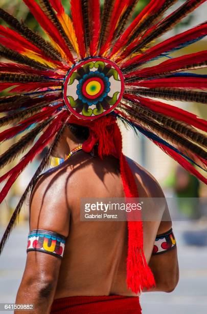 the ethnic diversity of the united states of america - aztec civilization stock photos and pictures