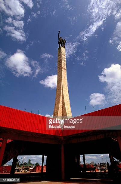 The Etoille Rouge Red Star monument in Cotonou the economic capital of Benin West Africa
