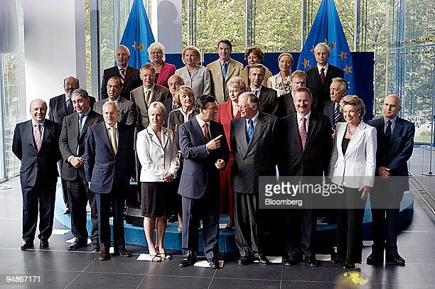 The EU commissionersdesignate in Brussels Belgium Friday August 20 2004 Front row from left Joaquin Almunia Economic and Monetary Affairs Rocco...