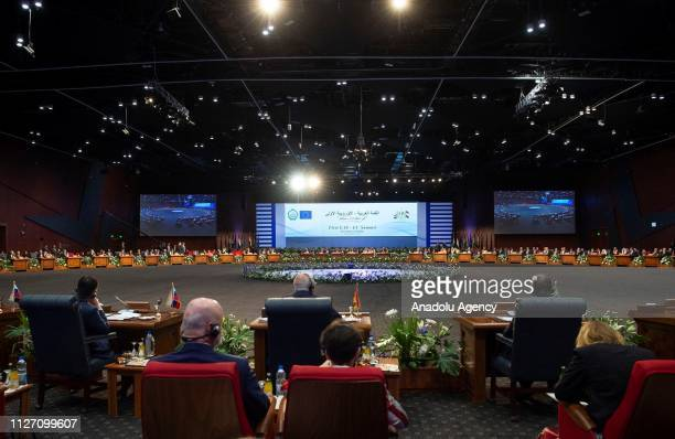 The EUArab League summit held under the theme Investing in Stability on February 24 2019 in Sharm el Sheikh Egypt