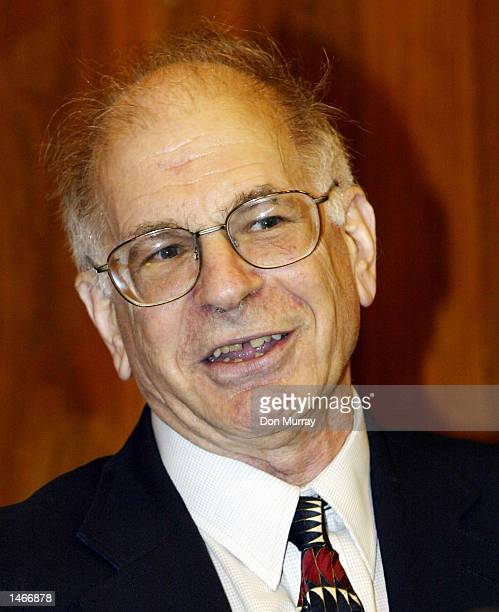 The Eugene Higgins Professor of Psychology and professor of public affairs, Daniel Kahneman, attends a reception in his honor after speaking to...