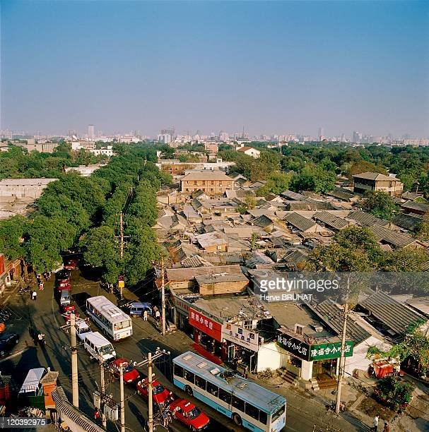 The Eunuchs District in Beijing China in 2002 Eunuch houses from the Qing Dynasty the perimeter is going to disappear Near the Drum Tower