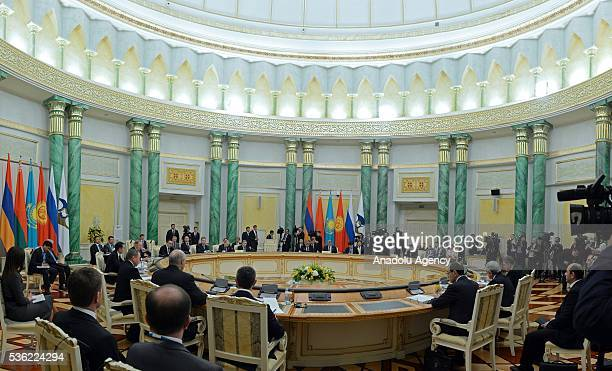 The Eurasian Economic Union meeting of the heads of states is held in Astana Kazakhstan on May 31 2016
