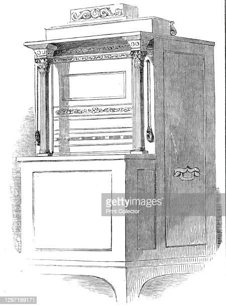 The Eureka, 1845. '...a Machine for Composing Hexameter Latin Verses, which is now exhibited at the Egyptian Hall, in Piccadilly. It was designed and...