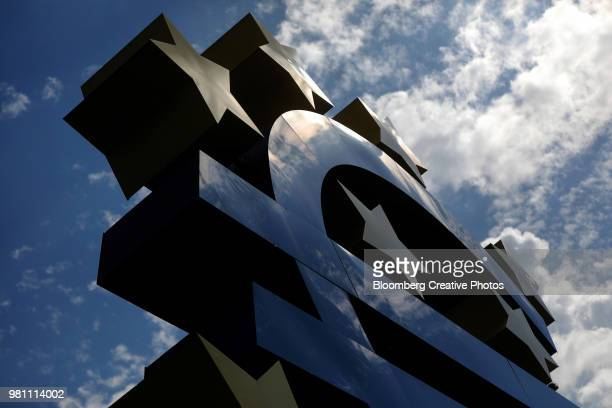 The euro sign sculpture
