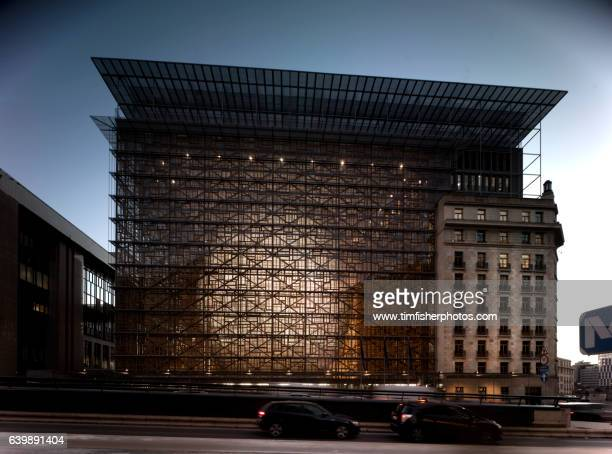 the europa building brussels - council of europe stock pictures, royalty-free photos & images
