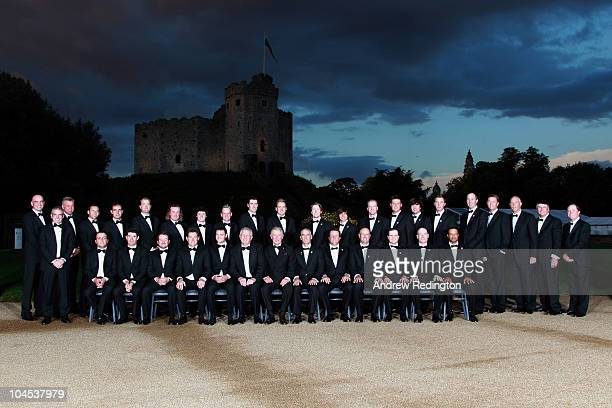 The European and United States Ryder Cup teams pose for an official photograph with HRH Prince Charles, The Prince of Wales before the 2010 Ryder Cup...