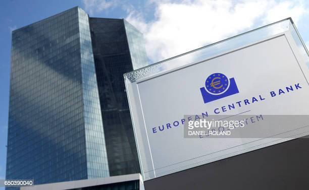 The European Central Bank ECB is pictured in Frankfurt am Main Germany on March 9 2017 The European Central Bank on Thursday raised its eurozone...