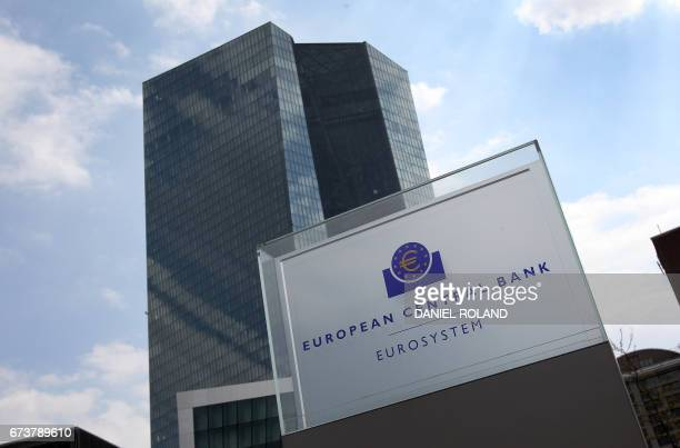 The European Central Bank is pictured in Frankfurt am Main Germany on April 27 2017 / AFP PHOTO / Daniel ROLAND