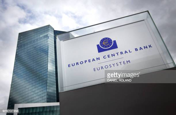 The European Central Bank is pictured in Frankfurt on March 8 2018 / AFP PHOTO / Daniel ROLAND
