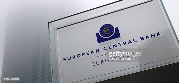 The European Central Bank is pictured in Frankfurt/Main on December 8 2016 ECB keeps recordlow interest rates unchanged / AFP / DANIEL ROLAND
