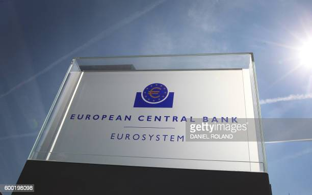 The European Central Bank 's board is pictured in Frankfurt/Main Germany on September 8 2016 The European Central Bank held its recordlow interest...