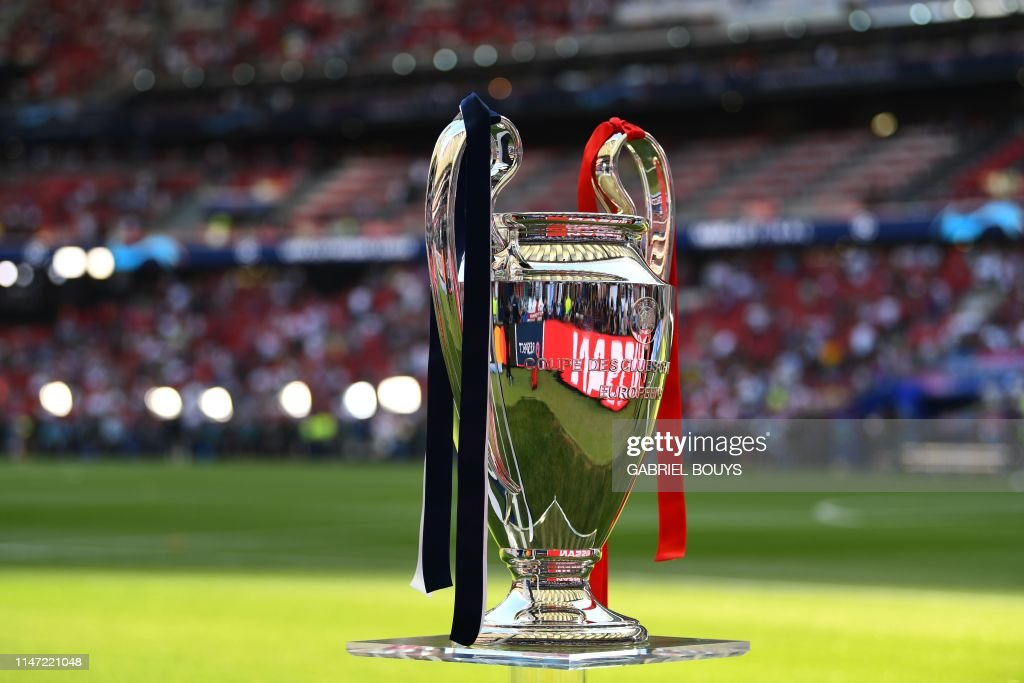 The European Champion Clubs' Cup is pictured before the UEFA ...