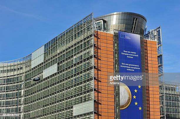 The European Commission executive body of the European Union are based in the Berlaymont building of Brussels Belgium