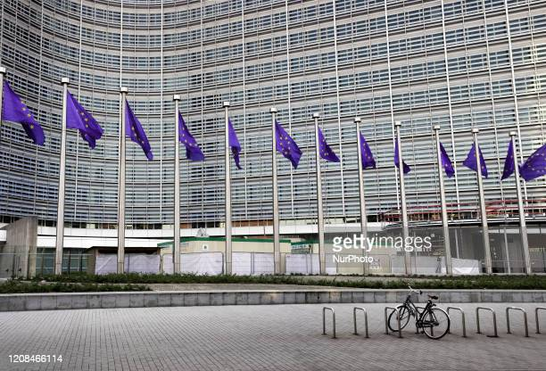 The European Council neighborhood in Brussles Belgium on 26 March The members of the European Council discuss measures against the covid19 pandemic...