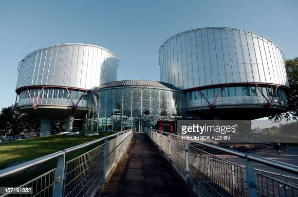 The European Court of Human Rights is seen during a hearing concerning the terrorist attack on a school in Beslan North Ossetia in September 2004 on...