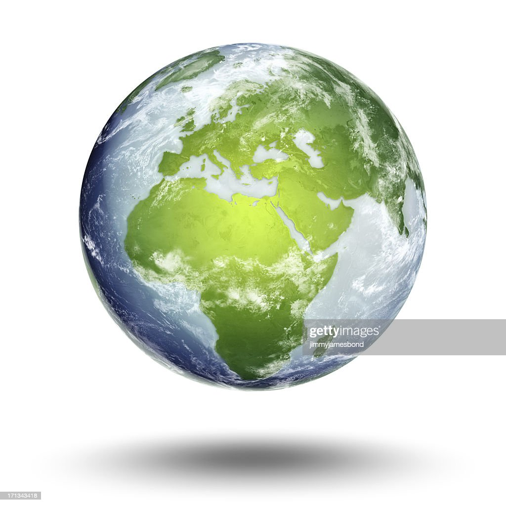 Terra-europea Emisfero orientale : Foto stock