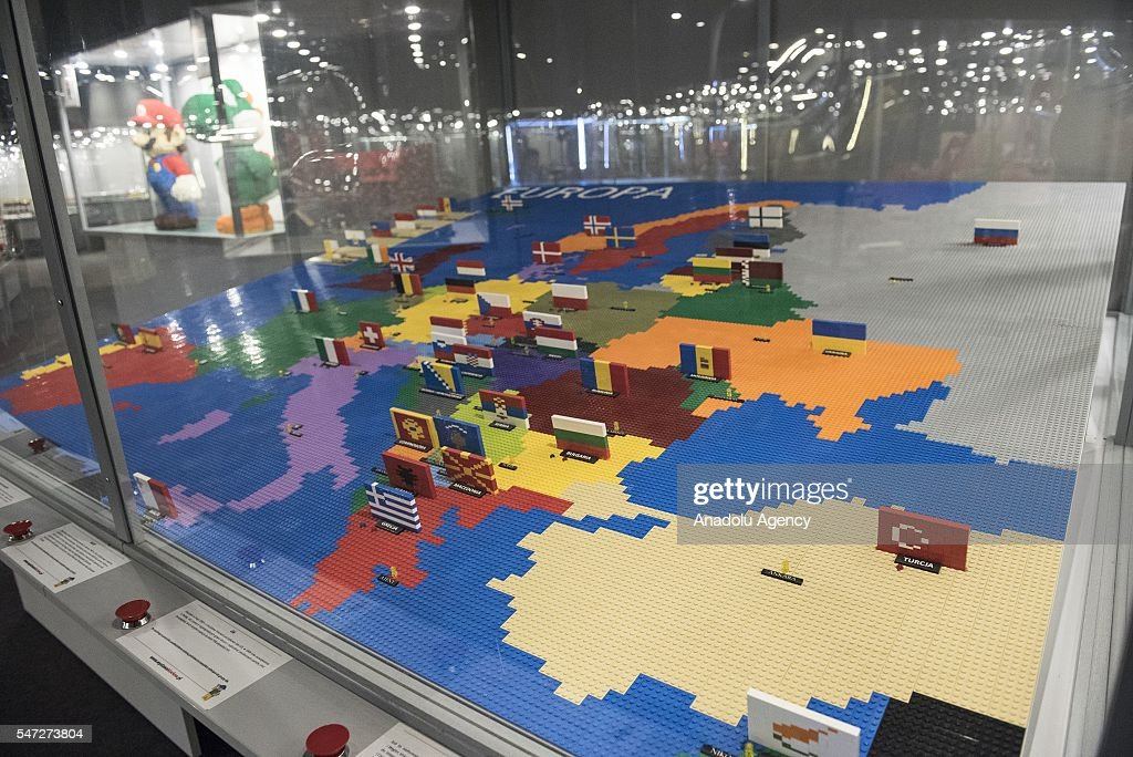 Worlds biggest lego brick show in krakow pictures getty images the european map made of lego bricks is displayed during the worlds biggest lego brick show gumiabroncs Image collections