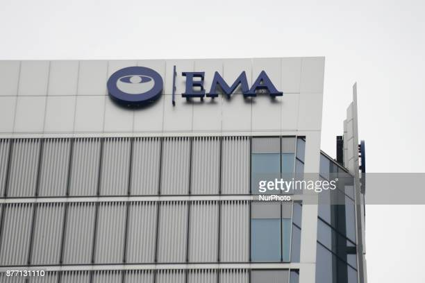 The European Medicines Agency headquarters are pictured in the financial district of Canary Wharf London on November 21 2017 London is going to the...