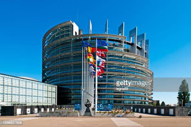 the european parliament building in strasbourg - council of europe stock pictures, royalty-free photos & images