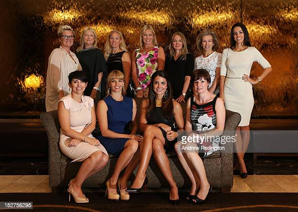 The European Ryder Cup Team players' and vicecaptains' wives and girlfriends pose for a photograph Laurae Westwood Kate Rose Kristin Stape and Marian...