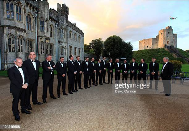The European Ryder Cup Team pose for a photograph during the 2010 Ryder Cup Dinner at Cardiff Castle on September 29, 2010 in Cardiff, Wales.
