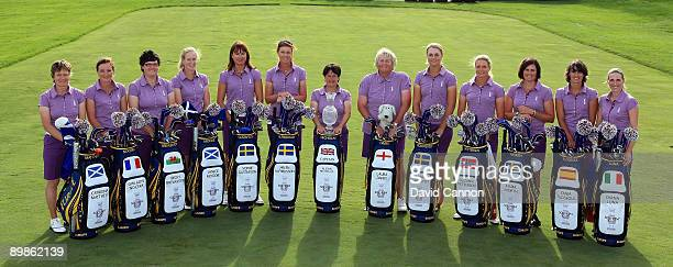 The European Team Catriona Matthew of Scotland Gwladys Nocera of France Becky Brewerton of Wales Janice Moodie of Scotland Sophie Gustafsson of...