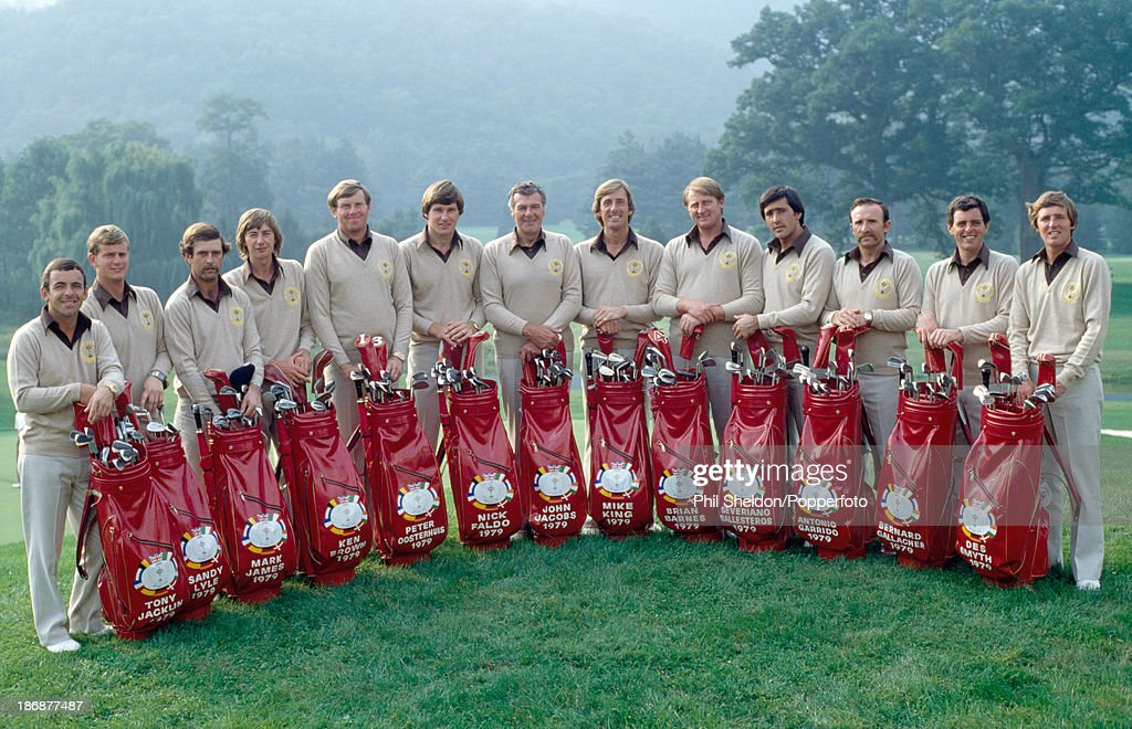The European Team Prior To The Ryder Cup Golf Competition Held At