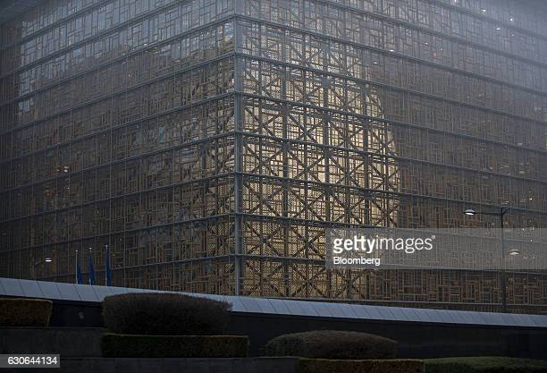 The European Union's new Europa building designed by Belgian architect Philippe Samyn stands in Brussels Belgium on Wednesday Dec 28 2016 The new...