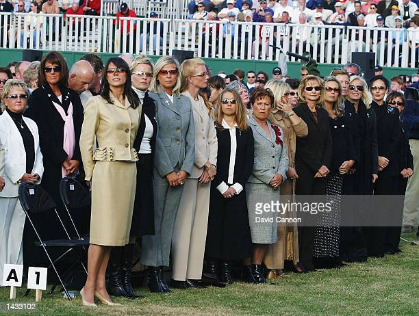 The European wives line up LR Front row Suzanne Torrance Pernilla Bjorn Heather Clarke Marie Fasth Pierre Fulke's girlfriend Cia Ruther Sergio...