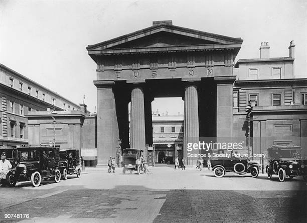 The Euston 'arch' standing at 72 feet was designed by Philip Hardwick for the London Birmingham Railway It was completed in May 1838 at a cost of...