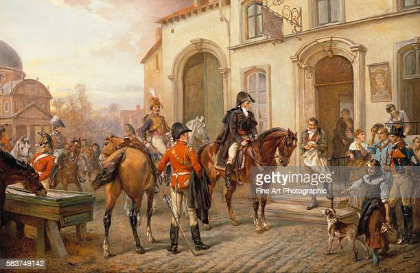 The Eve Before Waterloo, the Duke of Wellington at the Trumpet Inn by Robert Alexander Hillingford