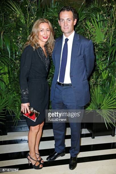 the evening gala for CARE ONG Alexandre De Rothschild and his wife Olivia are photografed for Paris Match on october 09 2017 in Paris France
