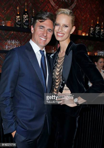 the evening gala IWC Schaffhausen for the 150th anniversary at the international Exhibition of the Haute Horlogerie Karolina Kurkova and her husband...