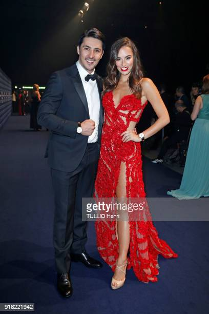 the evening gala IWC Schaffhausen for the 150th anniversary at the international Exhibition of the Haute Horlogerie Monika Radulovic and Alesandro...
