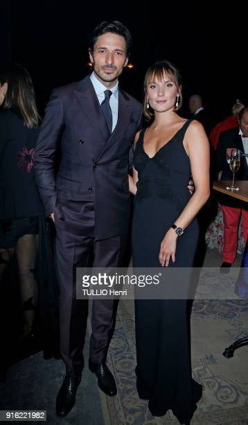 the evening gala IWC Schaffhausen for the 150th anniversary at the international Exhibition of the Haute Horlogerie Andres Velencoso and Ana Girardot...