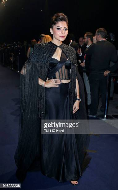 the evening gala IWC Schaffhausen for the 150th anniversary at the international Exhibition of the Haute Horlogerie the india singer Kanika Kapoor is...