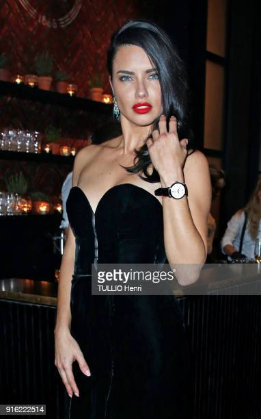 the evening gala IWC Schaffhausen for the 150th anniversary at the international Exhibition of the Haute Horlogerie Adriana Lima is photographed for...