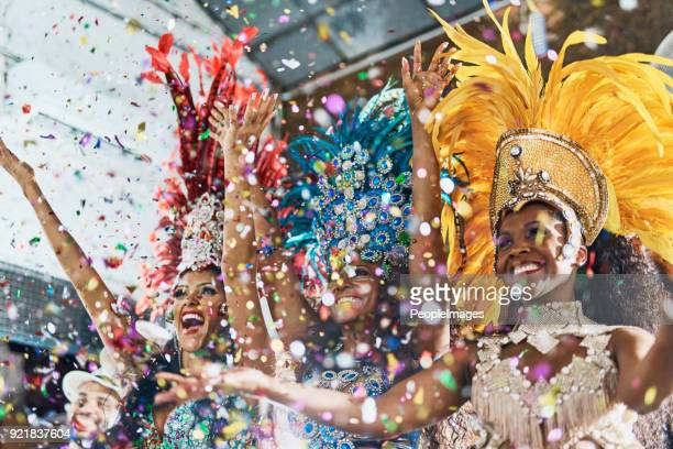 the evening is ours and the music is our friend - carnival stock photos and pictures