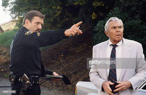 MATLOCK The Evening News Part 1 2 Episode 19 20 Pictured Mark Drexler as Police officer Andy Griffith as Benjamin Matlock