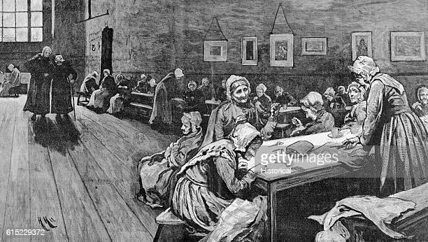 The Evening of Life Scene in a London WorkHouse