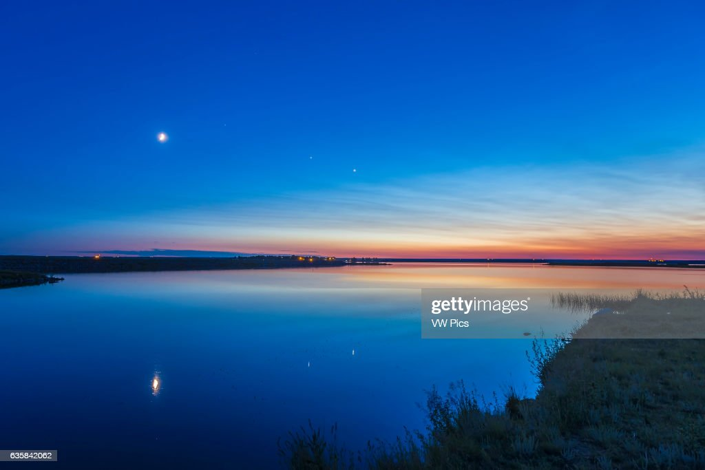 The evening planets of Venus (right) and Jupiter (left) : News Photo