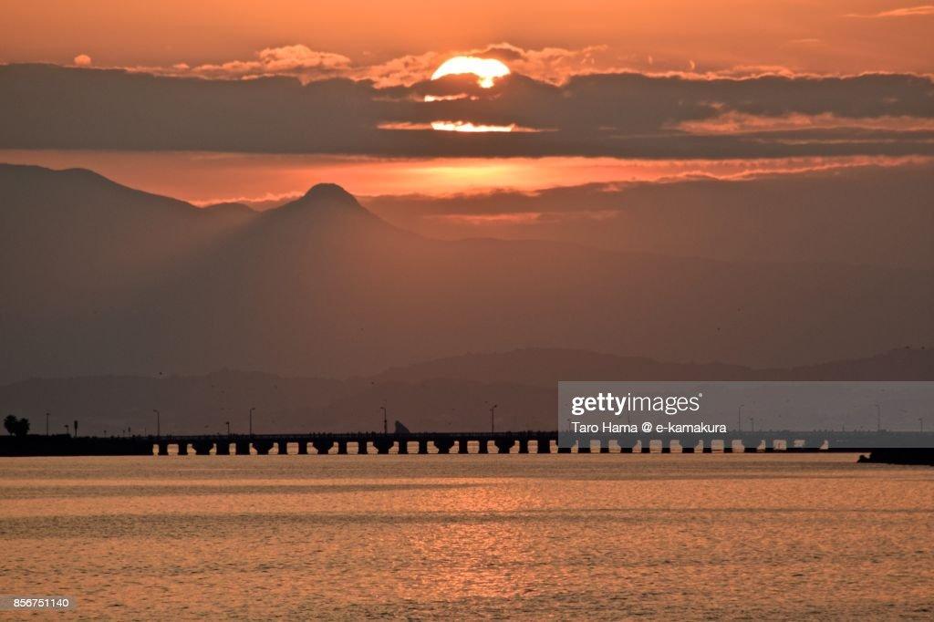 The evening sun on Mt. Hakone : ストックフォト