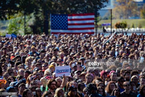 """The event dubbed """"Bernie's Back Rally"""" comes as Sanders returns to campaigning after suffering a heart attack earlier this month.An estimated 26,000..."""