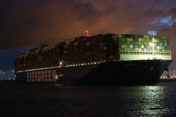 NLD: Container Ship Ever Given Arrives After Suez Canal Blockage