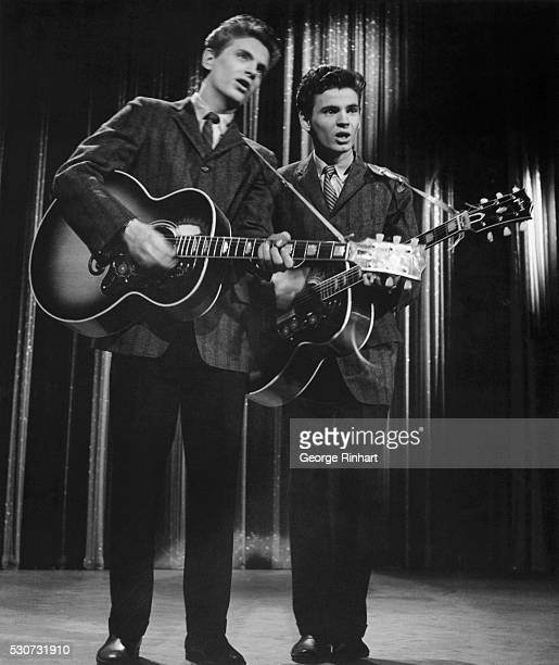 The Everly Brothers Don and Phil perform as guests on The Ed Sullivan Show 1958 BPA2# 3770
