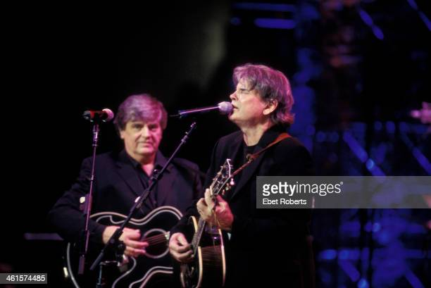 The Everly Brothers performing at Madison Square Garden in New York City December 2 2003 Don and Phil Everly