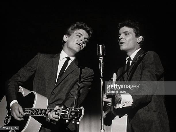 The Everly Brothers performing on stage in New York