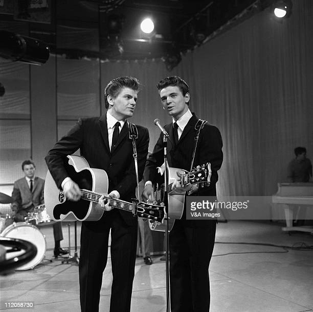 The Everly Brothers Phil Everly and Don Everly performing on TV show 1 April 1960